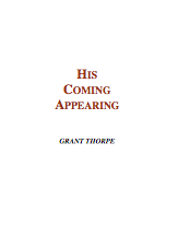 His Coming Appearing - Book Cover Thumbnail